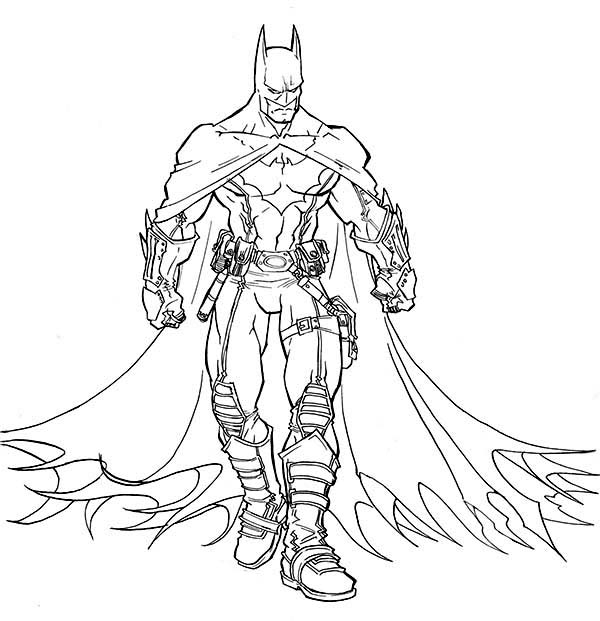 Batman, : The Amazing Batman Coloring Page