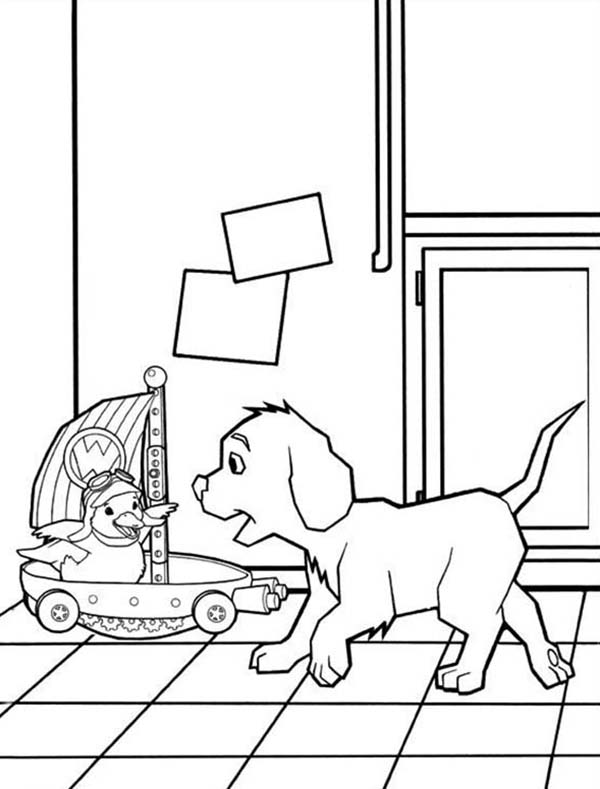 The Wonder Pets, : The Dog Catching Ming Ming in Wonder Pets Coloring Page