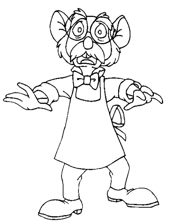 The Great Mouse Detective, : The Great Mouse Detective Character Coloring Page