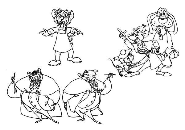 The Great Mouse Detective, : The Great Mouse Detective Coloring Page for Kids