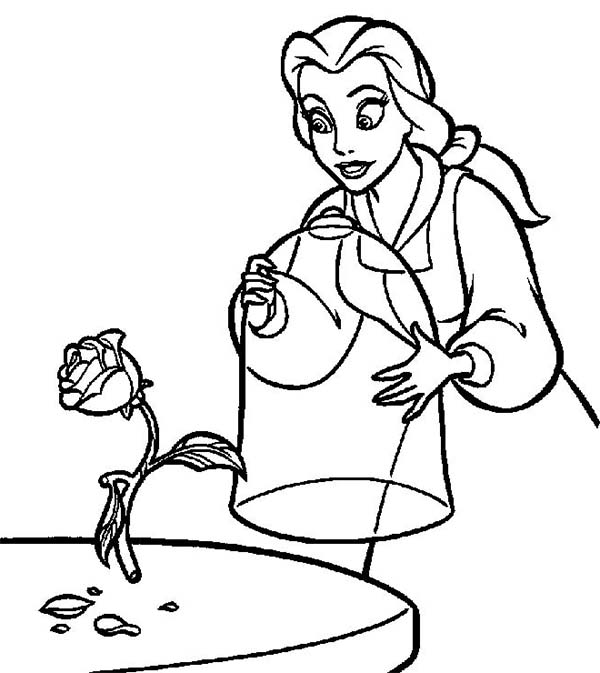 Belle, : The Magic Rose And Belle Coloring Pages