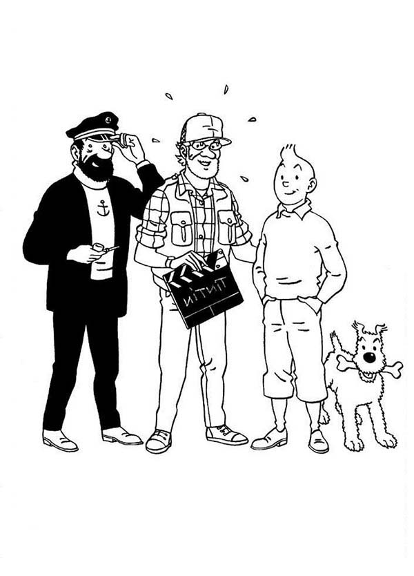 Tintin, : The Making of the Adventures of Tintin Movie Coloring Page
