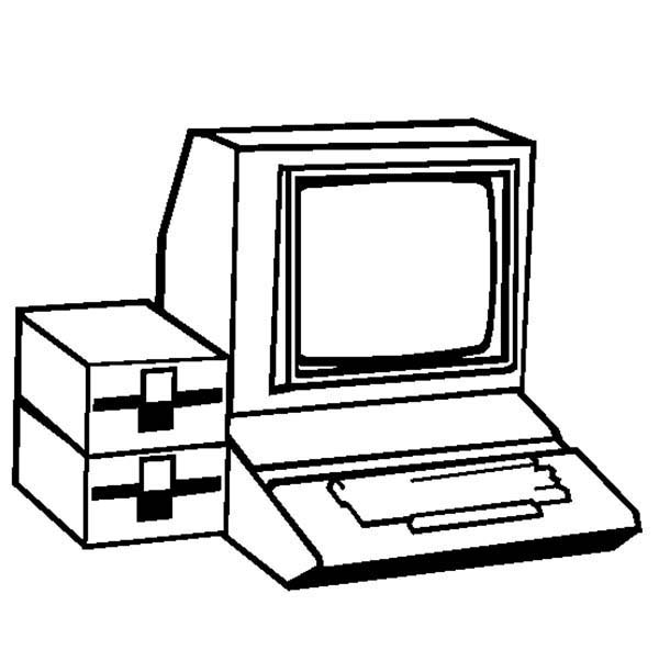 The Personal Computer Coloring Page | Coloring Sun
