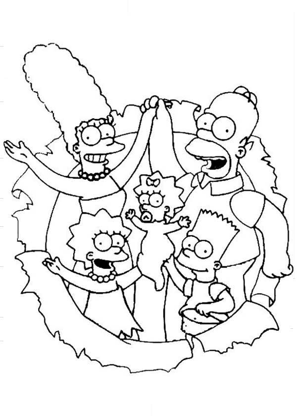 The Simpsons, : The Simpsons The Movie Coloring Page