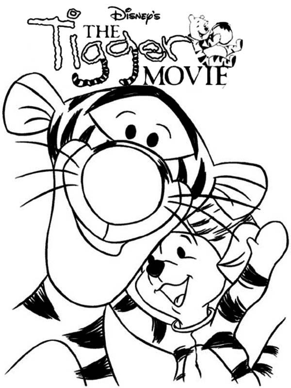 Tigger, : The Tigger Movie Coloring Page