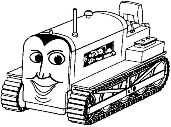 Bulldozer, : Thomas the Train Bulldozer Coloring Page