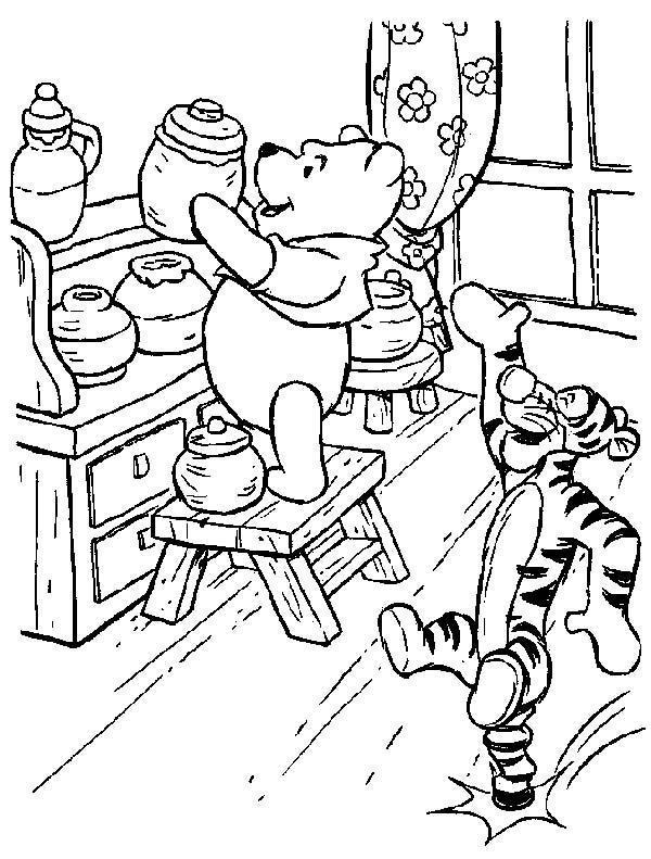 Tigger, : Tigger Say Hallo to Winnie the Pooh Coloring Page