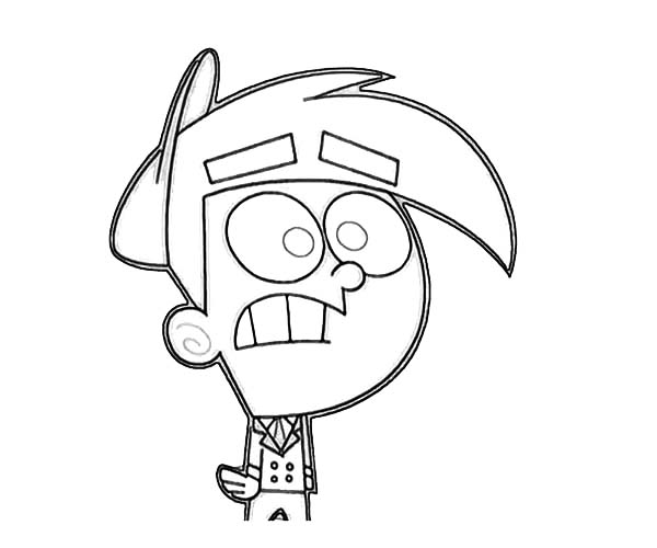 The Fairly Odd Parents, : Timmy is so Shocked in the Fairly Odd Parents Coloring Page