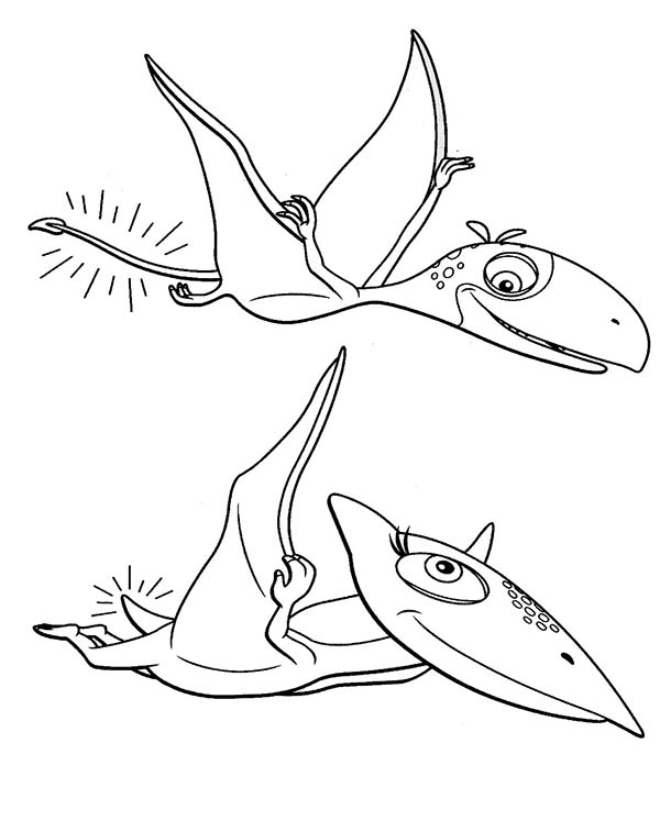 Dinosaurus Train, : Tiny Had Short Tail in Dinosaurus Train Coloring Page