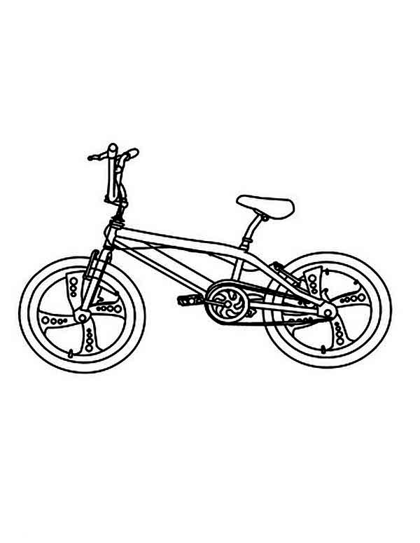 Bicycle, : Touring Bicycle Coloring Page