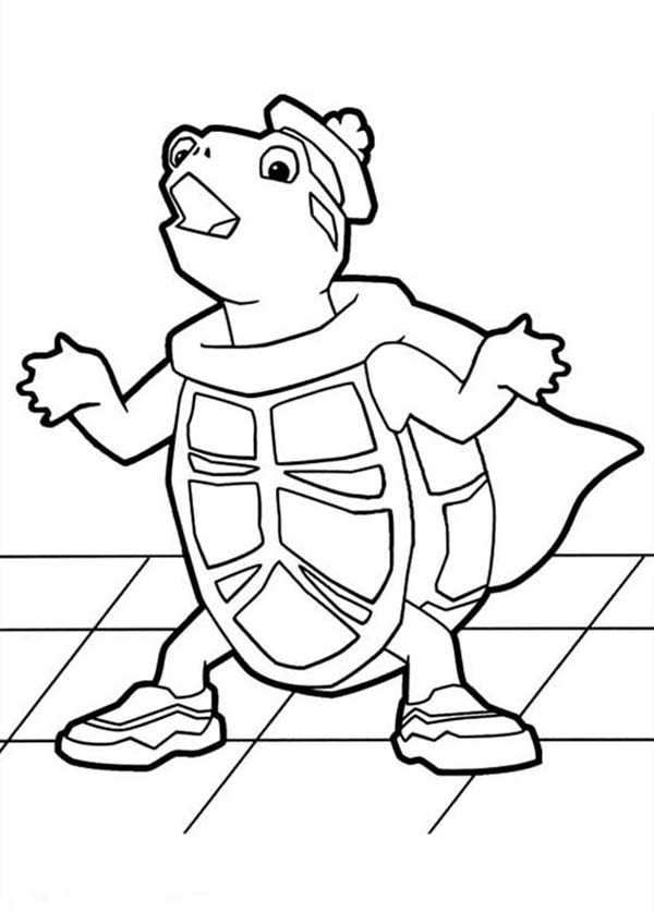 The Wonder Pets, : Turtle Tuck Did Not Know Where Everybody Go in Wonder Pets Coloring Page