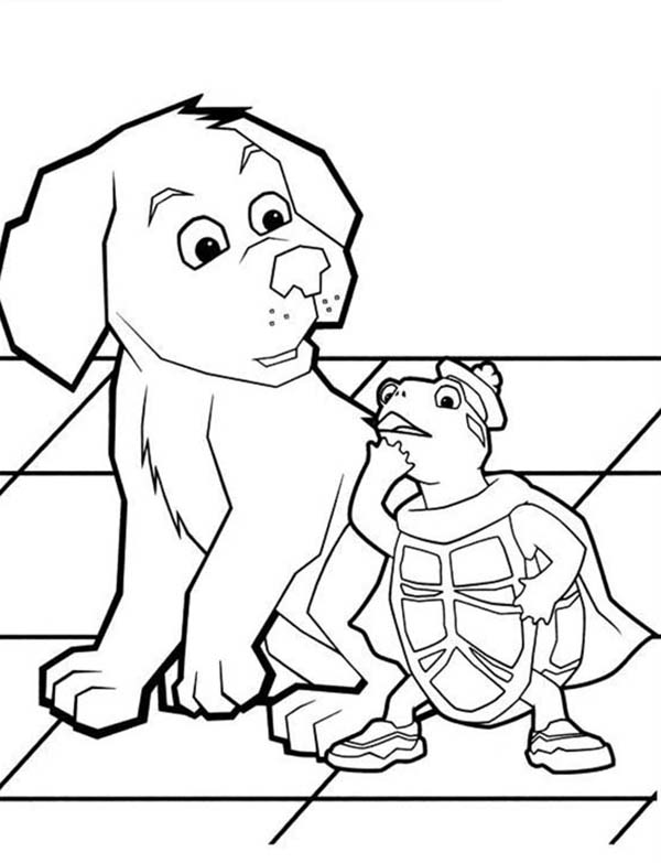 turtle tuck is little bit confuse in wonder pets coloring page