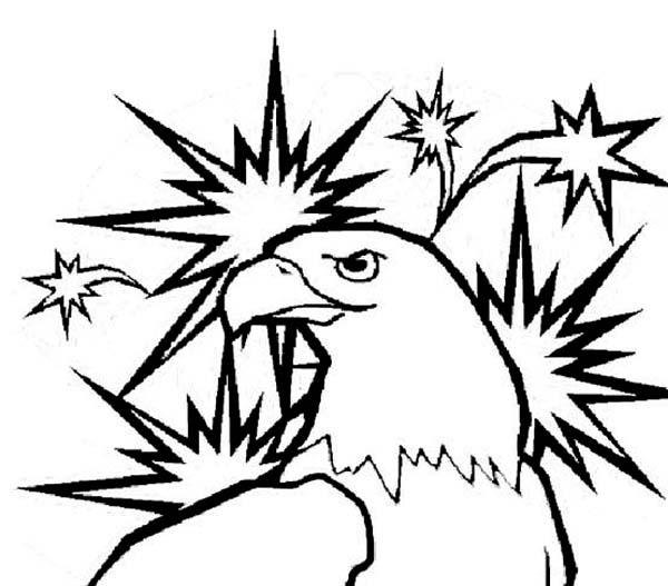 Eagle, : United State Mascot Eagle Coloring Page