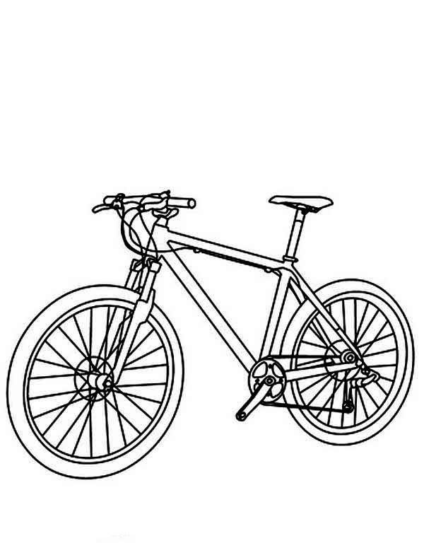 Bicycle, : Utility Bicycle Coloring Page