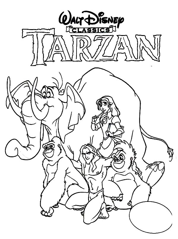 Walt Disney Tarzan Film Poster Coloring Page | Coloring Sun