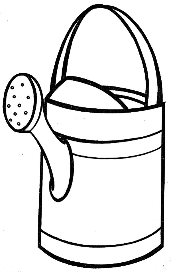 Watering Can, : Watering Can Coloring Page for Kids