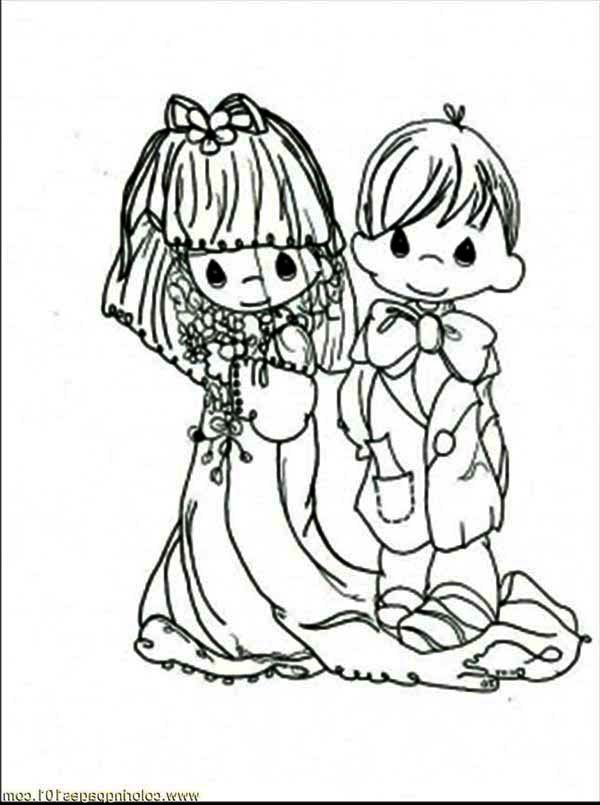 Wedding, : Wedding Day for This Happy Couple Coloring Page
