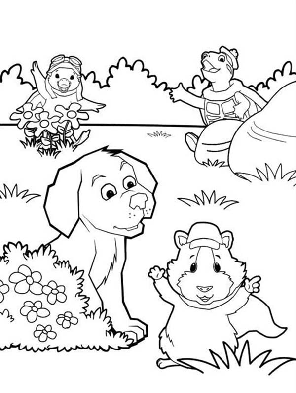 The Wonder Pets, : Wonder Pets All Characters Playing Hide and Seek Coloring Page