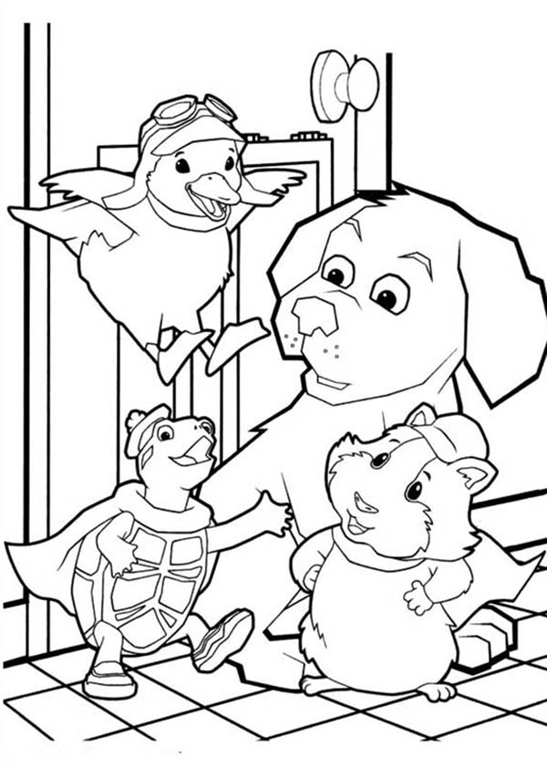 The Wonder Pets, : Wonder Pets Gathering at the Kitchen Coloring Page