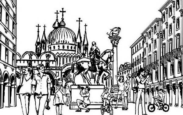City, : World Tourism City Coloring Page