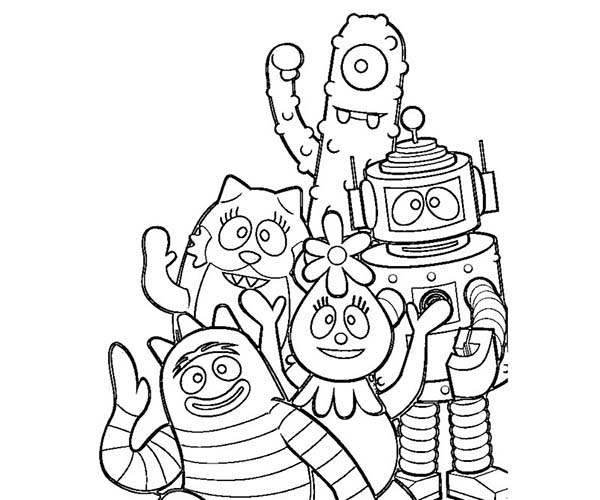 Yo Gabba Say Goodbye Coloring Page