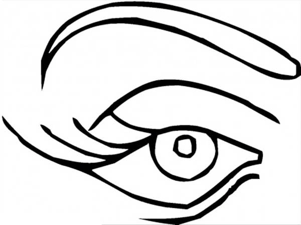 coloring pages blue eye peoples body free printable 31788