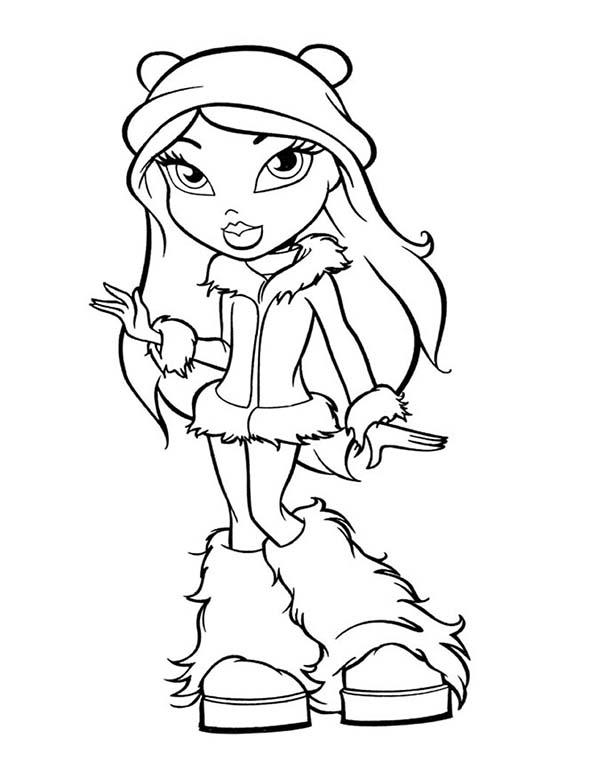 Bratz, : How to Draw Yasmin Bratz Coloring Page
