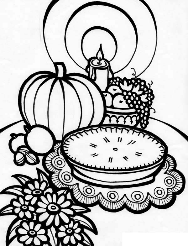 Canada Thanksgiving Day, : Delicious Canada Thanksgiving Day Appetizers Coloring Page