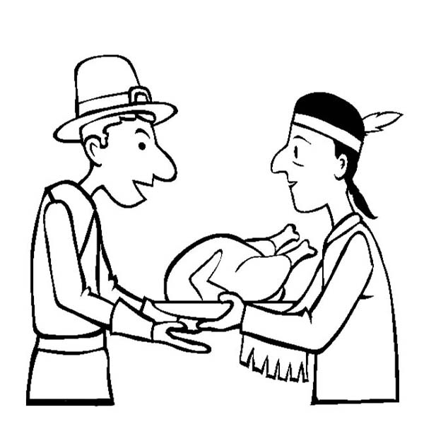Canada Thanksgiving Day, : Sharing Hospitality on Canada Thanksgiving Day Coloring Page