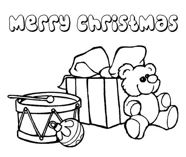 Christmas, : An Awesome Christmas Presents on Christmas Coloring Page