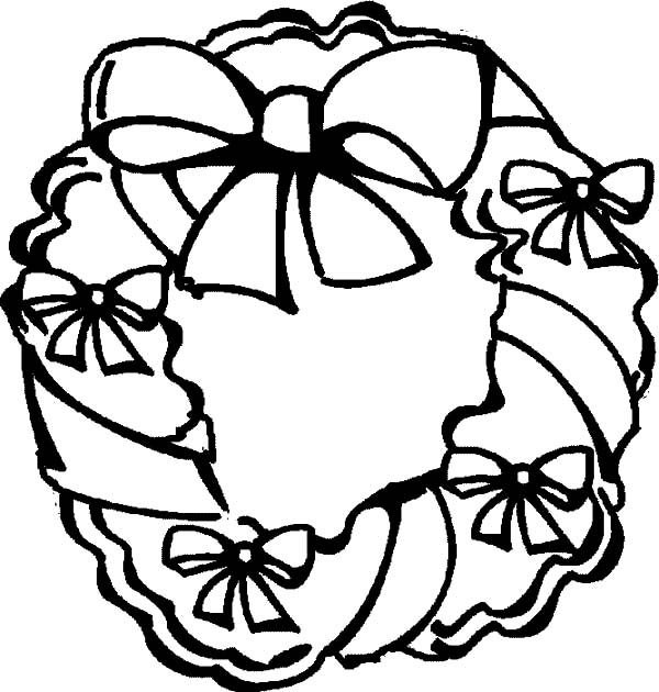 Christmas Wreaths, : Christmas Wreaths for Your House Coloring Pages
