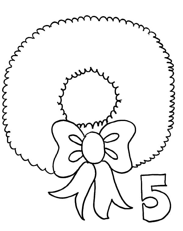 Christmas Wreaths, : Drawing Christmas Wreaths Coloring Pages