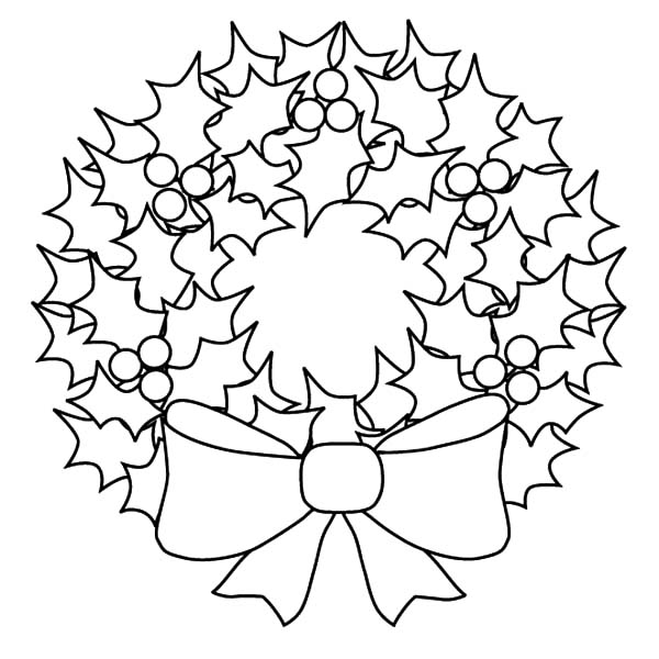 Christmas Wreaths, : How to Draw Christmas Wreaths Coloring Pages