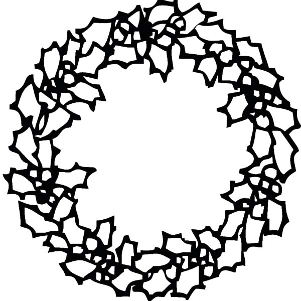 Christmas Wreaths, : Make Christmas Wreaths from Flowers and Leaves Coloring Pages