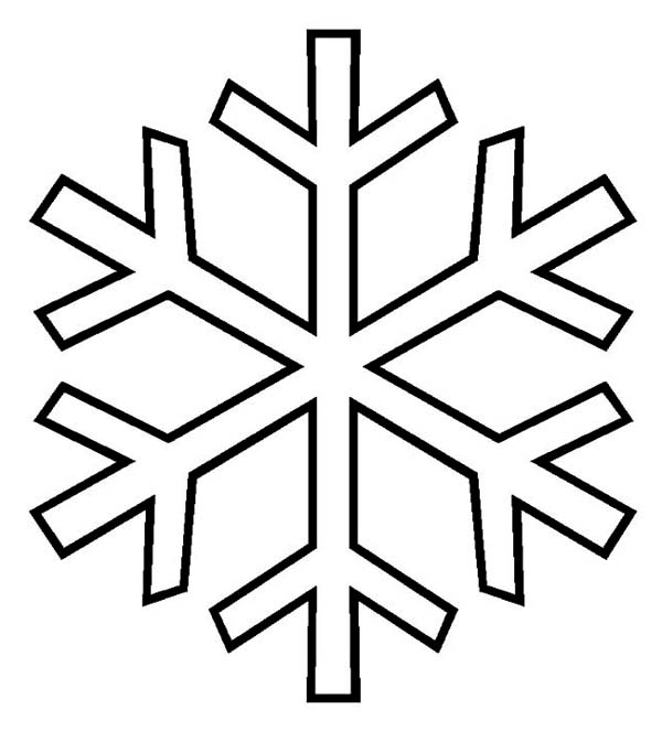 Winter Season, : Typical Snowflake Pattern on Winter Season Coloring Page