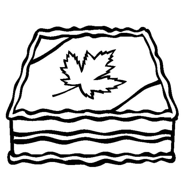 Canada Day, : Canada Day Celebration Cake Decoration Coloring Pages