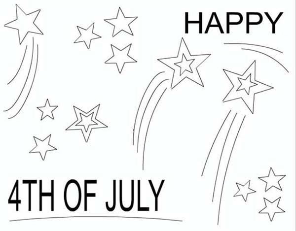 Independence Day, : Merry and Happy Independence Day Celebration Coloring Page