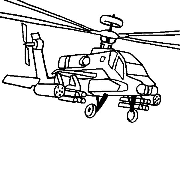 AH 64 Apache Helicopter Coloring Pages