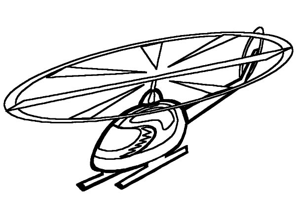 Helicopter, : Aeromodelling Helicopter Coloring Pages