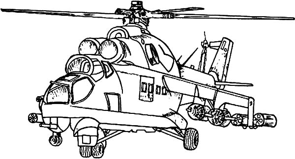 Helicopter, : Army Striker Helicopter Coloring Pages