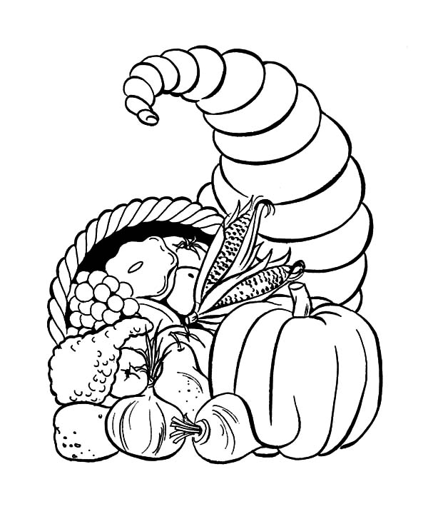 Harvests, : Autumn Harvests Coloring Pages