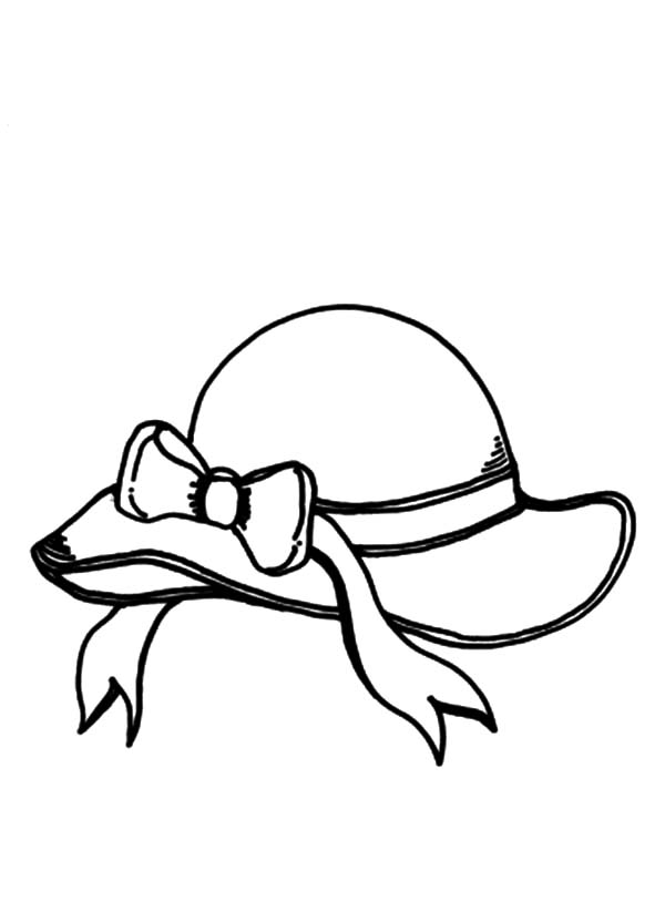 Hat, : Beach Hat Coloring Pages