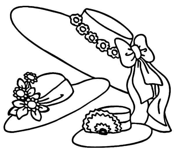 hats coloring pages - the gallery for sun hat coloring page