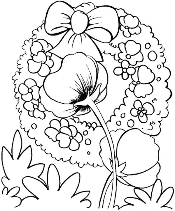 Remembrance Day, : Beautiful Poppies Remembrance Day Coloring Pages