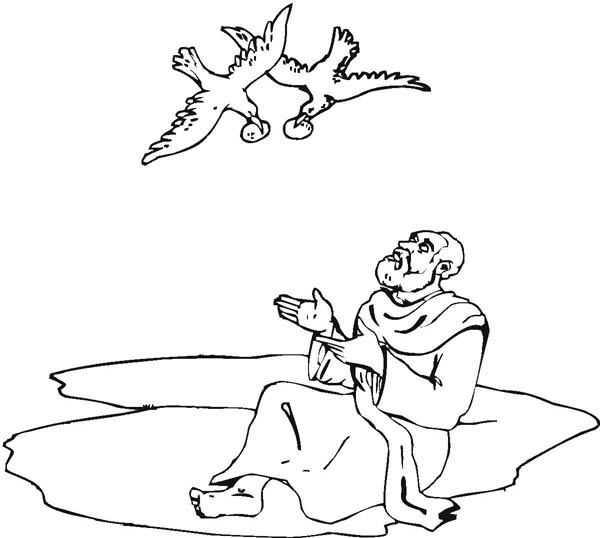 bible story coloring pages elijah - photo#8