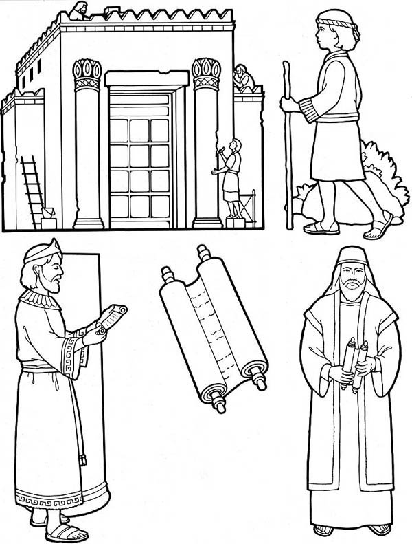 King Nebuchadnezzar, : Bible Story of King Nebuchadnezzar Coloring Pages