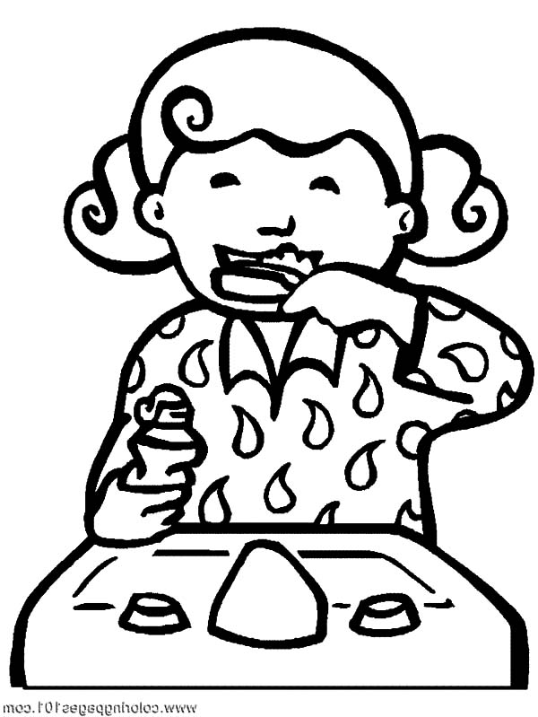 Brush Your Teeth Before Sleep for Its Health Coloring Pages ...