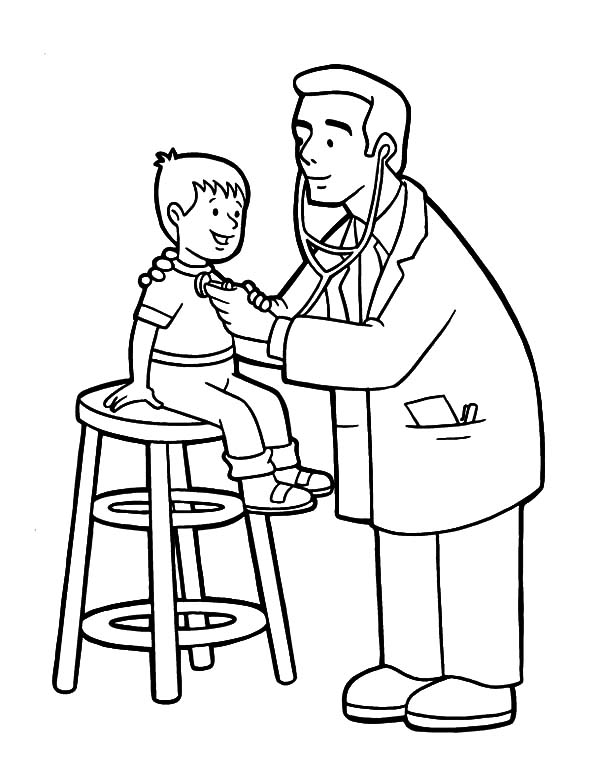Health, : Checking Health Condition Coloring Pages