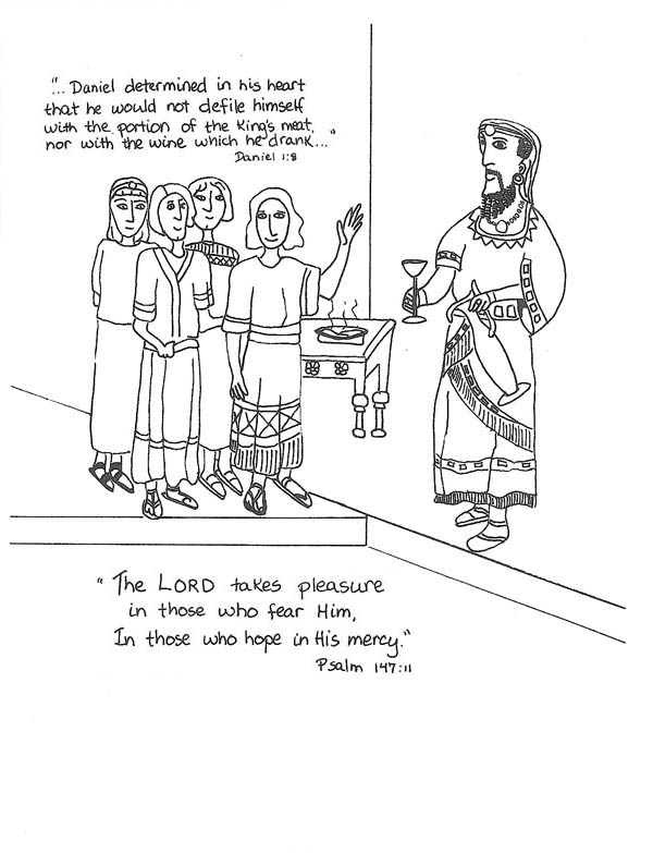 The gallery for daniel interprets nebuchadnezzars dream for Nebuchadnezzar coloring page