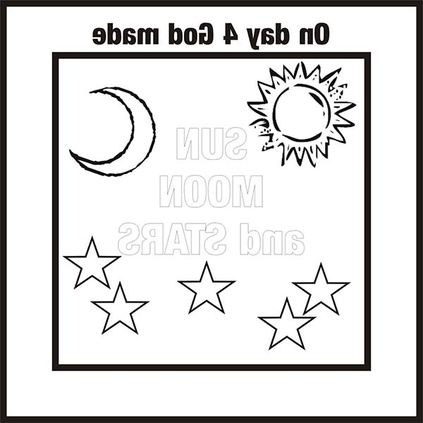 Days Creation, : Days of Creation the Moon and the Sun Coloring Pages